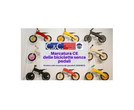 marcatura ce biciclette senza pedali